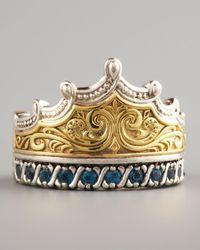 Konstantino | Metallic London Blue Topaz Crown Ring | Lyst