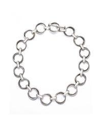 Lauren by Ralph Lauren | Metallic Twist Link Necklace | Lyst