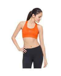 Nike - Orange Pro Sports Bra - Lyst