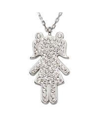 Swarovski | Metallic Nao Girl Pendant | Lyst
