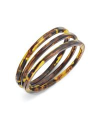 Lauren by Ralph Lauren | Brown Set Of 3 Tortoise Resin Bangles | Lyst