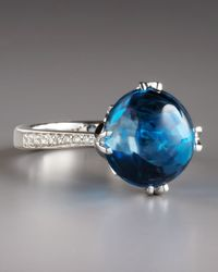 Frederic Sage | Jelly Bean Blue Topaz Diamond Ring | Lyst
