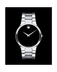Movado | Gray Mens Swiss Serio Stainless Steel Bracelet 38mm for Men | Lyst