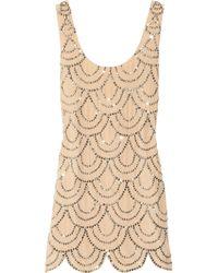 Rachel Gilbert | Pink Scala Beaded Silk Mini Dress | Lyst