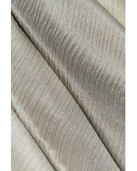 Rodarte - Gray Stormy Wheat Crinkled Silk-chiffon Gown - Lyst