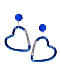 ASOS | Blue Asos Heart Carabine Earrings | Lyst