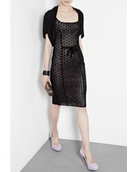 DKNY | Black Silk Cashmere Shrug | Lyst
