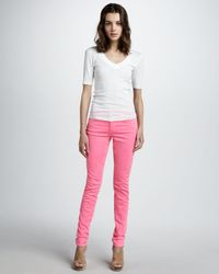 Joe's Jeans - Highrise Skinny Ankle Jeans Hot Pink - Lyst