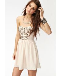 Nasty Gal | Natural Sweet Studs Dress | Lyst