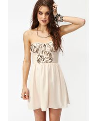 Nasty Gal | Beige Sweet Studs Dress | Lyst