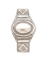 Low Luv by Erin Wasson - Metallic Afghani Engraved Cuff - Lyst