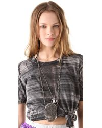 Low Luv by Erin Wasson | Silver Chain Mail Bag Necklace | Lyst