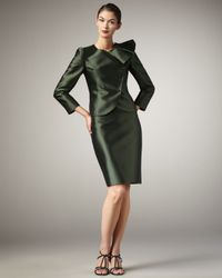 Tahari | Green Ruffle-collar Suit | Lyst
