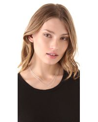 Gorjana - Metallic Double Rope Necklace - Lyst