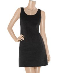 Michael Kors | Black Wool and Angora-blend Shift Dress | Lyst