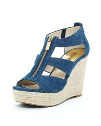 Michael Kors | Blue Damita Wedge | Lyst