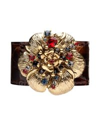 Mimco | Brown Punklove Flower Cuff | Lyst