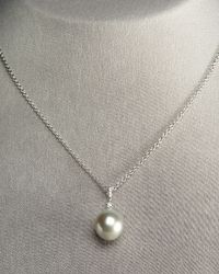 Assael - Metallic Gray Pearl Pendant Necklace - Lyst