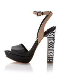 BCBGMAXAZRIA - Marcel Anklewrap Sandal Black - Lyst