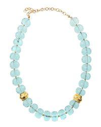 Devon Leigh - Blue Quartz Disc Necklace - Lyst