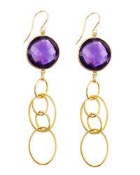 Devon Leigh - Purple Hydroquartz Drop Earrings - Lyst