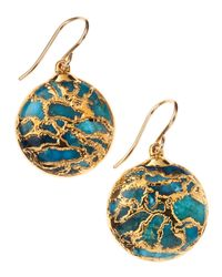 Devon Leigh | Blue Mojave Turquoise Earrings | Lyst