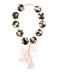 Devon Leigh | Pink Rose Quartz and Jasper Necklace | Lyst
