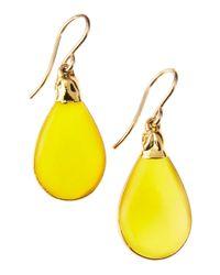 Devon Leigh | Metallic Yellow Chalcedony Earrings | Lyst