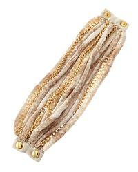 Elie Tahari | Metallic Golden Multichain Bracelet | Lyst