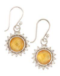 Elizabeth Showers - Metallic Citrine Drop Earrings - Lyst