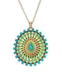 Fragments - Metallic Turquoise Pendant Necklace - Lyst
