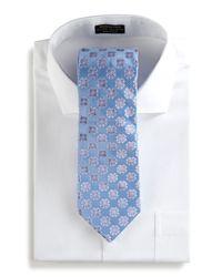 Ike Behar - Floral Woven Tie Blue for Men - Lyst