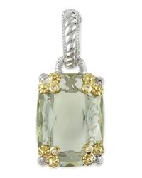 Judith Ripka | Green Cushion-cut Quartz Pendant | Lyst