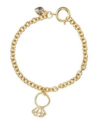 Juicy Couture | Metallic Engagement Ring Wish Bracelet | Lyst