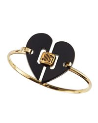 Juicy Couture | Black Heart Deco Skinny Bangle | Lyst
