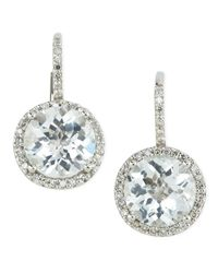 KC Designs - Blue Topaz Circledrop Earrings - Lyst