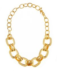 Kenneth Jay Lane | Metallic Doublelink Chain Necklace | Lyst