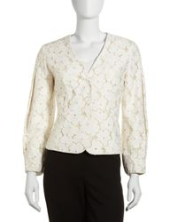 Lafayette 148 New York - White Marcella Floral Lace Jacket - Lyst