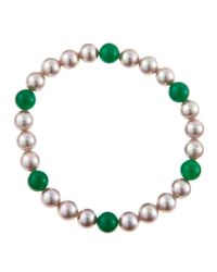 Majorica - Metallic Nuage Pearl Chrysoprase Bracelet for Men - Lyst