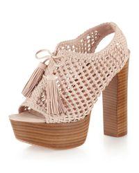 Pencey | Pink Alexus Platform Sandal Blush | Lyst