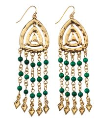 R.j. Graziano - Green Multistrand Beadchain Earrings - Lyst