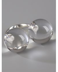 Saskia Diez | Metallic Silver Sling Ring No3 | Lyst