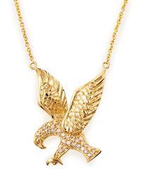 Sydney Evan | Metallic Pave Eagle Necklace | Lyst