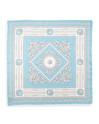 Versace | Foulard Square Scarf Light Blue | Lyst