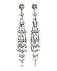 CZ by Kenneth Jay Lane | Metallic Shoulder Sweep Cubic Zirconia Earrings | Lyst