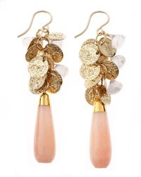Devon Leigh | Metallic Quartz Drop Coin Earrings | Lyst