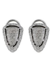 John Hardy - Metallic Naga Pave Diamond Shrimp Earrings - Lyst