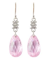 Judith Ripka | Twinkle Pink Crystal Earrings | Lyst