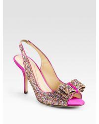 1785beee0085 Kate Spade. Women s Charm Glitter Bow Slingback Pumps