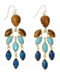 Kendra Scott | Blue Multistone Chandelier Earrings Parasol | Lyst